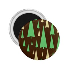 Spruce Tree Grey Green Brown 2.25  Magnets