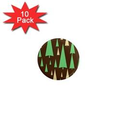 Spruce Tree Grey Green Brown 1  Mini Magnet (10 pack)