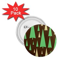 Spruce Tree Grey Green Brown 1.75  Buttons (10 pack)