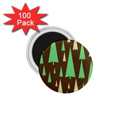 Spruce Tree Grey Green Brown 1.75  Magnets (100 pack)