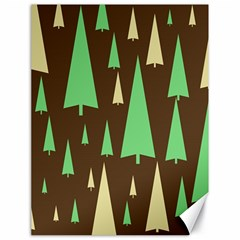 Spruce Tree Grey Green Brown Canvas 18  x 24