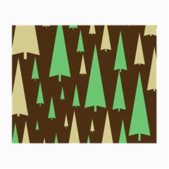 Spruce Tree Grey Green Brown Small Glasses Cloth (2-Side)