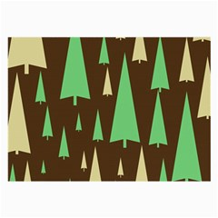Spruce Tree Grey Green Brown Large Glasses Cloth (2-Side)