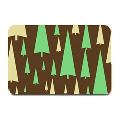 Spruce Tree Grey Green Brown Plate Mats