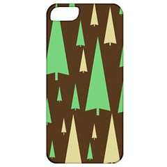 Spruce Tree Grey Green Brown Apple iPhone 5 Classic Hardshell Case