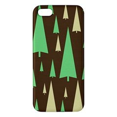 Spruce Tree Grey Green Brown Apple iPhone 5 Premium Hardshell Case