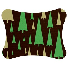 Spruce Tree Grey Green Brown Jigsaw Puzzle Photo Stand (Bow)