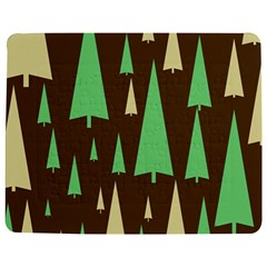Spruce Tree Grey Green Brown Jigsaw Puzzle Photo Stand (Rectangular)
