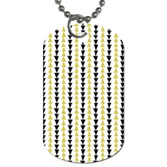 Triangle Green Black Yellow Dog Tag (One Side)