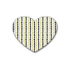 Triangle Green Black Yellow Rubber Coaster (Heart)