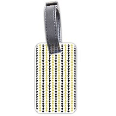 Triangle Green Black Yellow Luggage Tags (Two Sides)