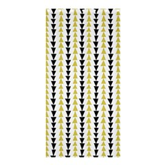 Triangle Green Black Yellow Shower Curtain 36  x 72  (Stall)