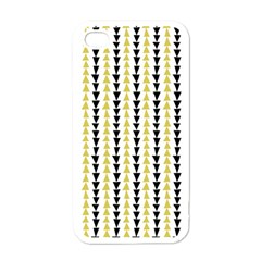Triangle Green Black Yellow Apple iPhone 4 Case (White)