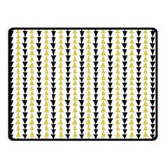 Triangle Green Black Yellow Double Sided Fleece Blanket (small)