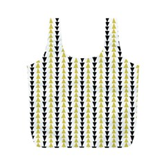 Triangle Green Black Yellow Full Print Recycle Bags (M)