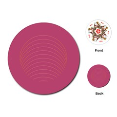 Tumblr Static Pink Wave Fingerprint Playing Cards (Round)