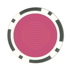Tumblr Static Pink Wave Fingerprint Poker Chip Card Guard