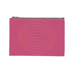 Tumblr Static Pink Wave Fingerprint Cosmetic Bag (Large)