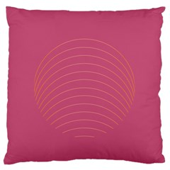 Tumblr Static Pink Wave Fingerprint Large Flano Cushion Case (One Side)