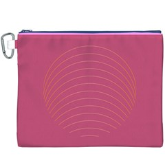 Tumblr Static Pink Wave Fingerprint Canvas Cosmetic Bag (XXXL)