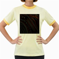 Trailer Drax Line Brown White Chevron Galaxy Space Women s Fitted Ringer T Shirts