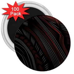 Trailer Drax Line Brown White Chevron Galaxy Space 3  Magnets (100 pack)