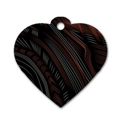 Trailer Drax Line Brown White Chevron Galaxy Space Dog Tag Heart (Two Sides)