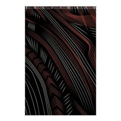 Trailer Drax Line Brown White Chevron Galaxy Space Shower Curtain 48  x 72  (Small)