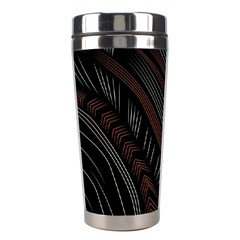 Trailer Drax Line Brown White Chevron Galaxy Space Stainless Steel Travel Tumblers