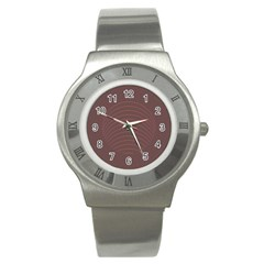 Tumblr Static Wave Grey Fingerprint Stainless Steel Watch