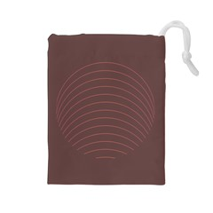 Tumblr Static Wave Grey Fingerprint Drawstring Pouches (Large)