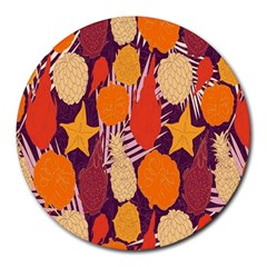 Tropical Mangis Pineapple Fruit Tailings Round Mousepads