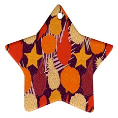 Tropical Mangis Pineapple Fruit Tailings Ornament (star)
