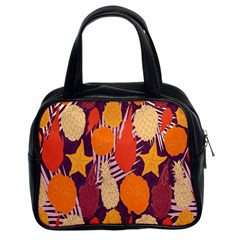Tropical Mangis Pineapple Fruit Tailings Classic Handbags (2 Sides)