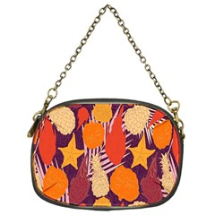 Tropical Mangis Pineapple Fruit Tailings Chain Purses (One Side)