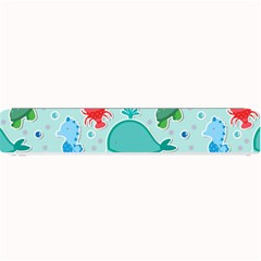 Turtle Crab Dolphin Whale Sea World Whale Water Blue Animals Small Bar Mats