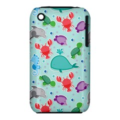 Turtle Crab Dolphin Whale Sea World Whale Water Blue Animals iPhone 3S/3GS