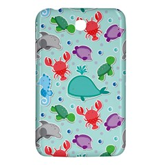 Turtle Crab Dolphin Whale Sea World Whale Water Blue Animals Samsung Galaxy Tab 3 (7 ) P3200 Hardshell Case