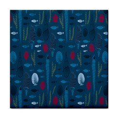 Sea World Fish Ccoral Blue Water Face Towel