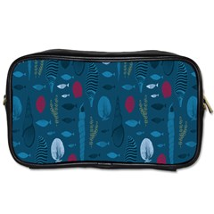 Sea World Fish Ccoral Blue Water Toiletries Bags 2-Side