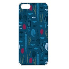 Sea World Fish Ccoral Blue Water Apple iPhone 5 Seamless Case (White)