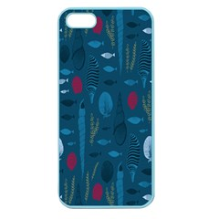 Sea World Fish Ccoral Blue Water Apple Seamless iPhone 5 Case (Color)