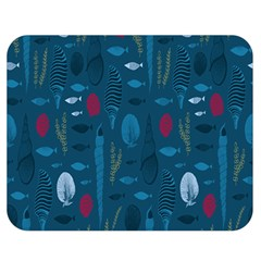Sea World Fish Ccoral Blue Water Double Sided Flano Blanket (Medium)