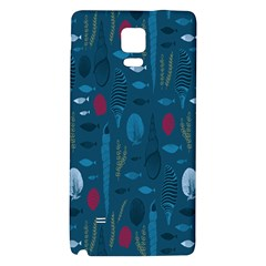 Sea World Fish Ccoral Blue Water Galaxy Note 4 Back Case