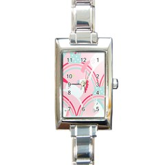Unicorn Animals Horse Pink Rainbow Rectangle Italian Charm Watch