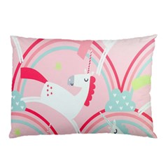 Unicorn Animals Horse Pink Rainbow Pillow Case (Two Sides)