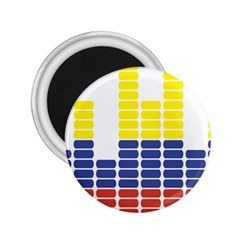 Volumbia Olume Circle Yellow Blue Red 2.25  Magnets