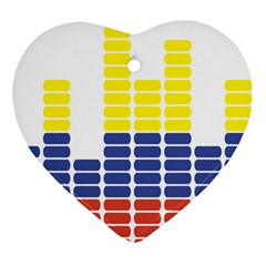 Volumbia Olume Circle Yellow Blue Red Ornament (heart)