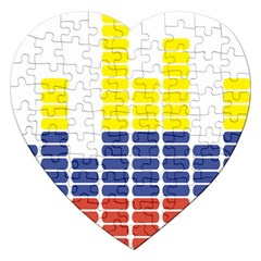 Volumbia Olume Circle Yellow Blue Red Jigsaw Puzzle (Heart)