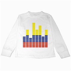 Volumbia Olume Circle Yellow Blue Red Kids Long Sleeve T-Shirts